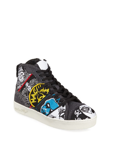 Men's Rancid Patched Mid-Top Sneakers