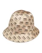 Donna Logo-Print Silk Bucket Hat