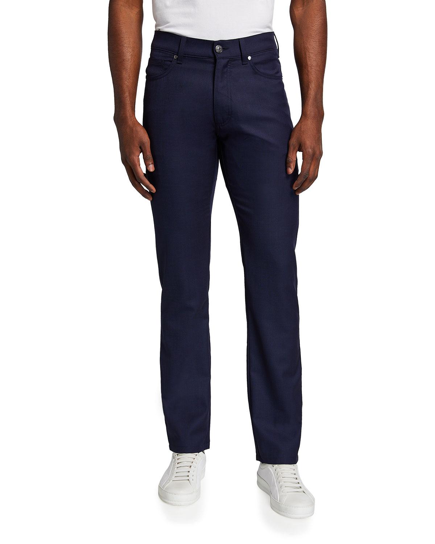 5-Pocket Regular-Fit Wool Pants