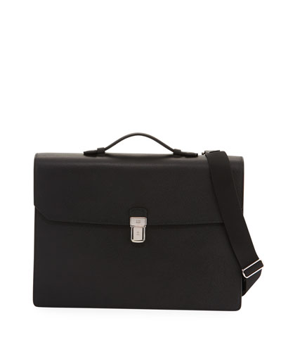 Cadogan Double-Flap Leather Briefcase
