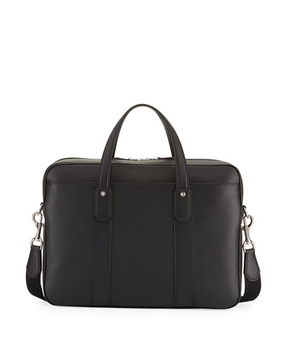 Hampstead Leather Document Briefcase, Black