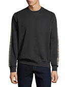 Men's Camilla Check-Striped Sweatshirt