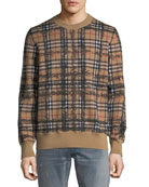 Men's Kern Scribble Check Sweatshirt