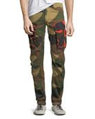 Rovic Mix 3D Camouflage Zip Cargo Pants