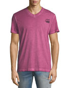 Doax V-Neck Heathered Jersey T-Shirt