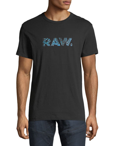 Mai Graphic Cotton T-Shirt, Black