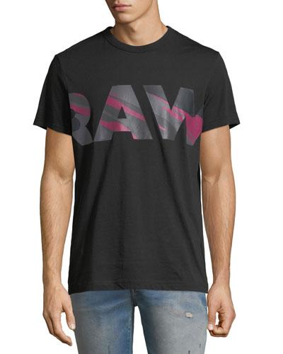 Zeabel Graphic Cotton T-Shirt, Black