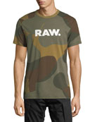 Zost Graphic Camo-Print T-Shirt, Olive