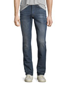 Hudson Men's Sartor Slouchy Distressed Skinny Jeans, All