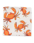 Crabs Linen/Silk Pocket Square