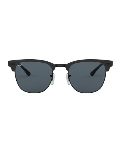 Men's Half-Rim Metal Sunglasses