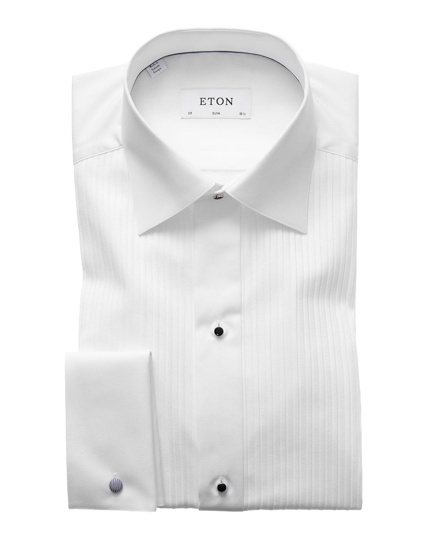 Men's Slim-Fit Pleated Bib Formal Shirt