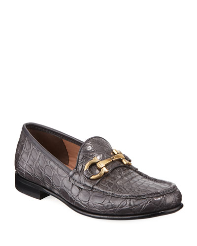 Men's Bond 2 Crocodile Gancini Loafer