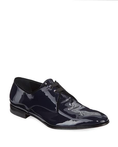 Salvatore Ferragamo Men's Broadway Patent Leather Oxford Shoe