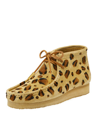 Men's Suede Wallabee/Moc Chukka Boot, Leopard Print