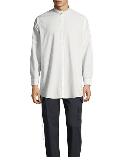 d6b39352678 Mandarin Collar White Shirt | Neiman Marcus
