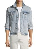 Joe's Jeans Men's Rogue Acid-Wash Denim Jacket