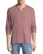 Joe's Jeans Men's Slub Henley T-Shirt