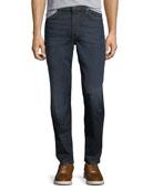 Men's Folsom Dark-Wash Straight-Leg Jeans, Clinton