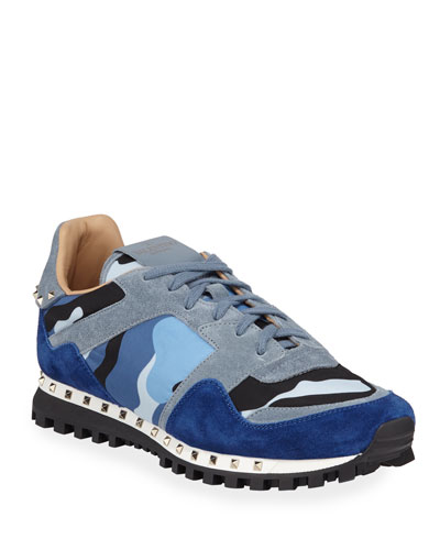 Men's Rockrunner Camo Trainer Sneakers