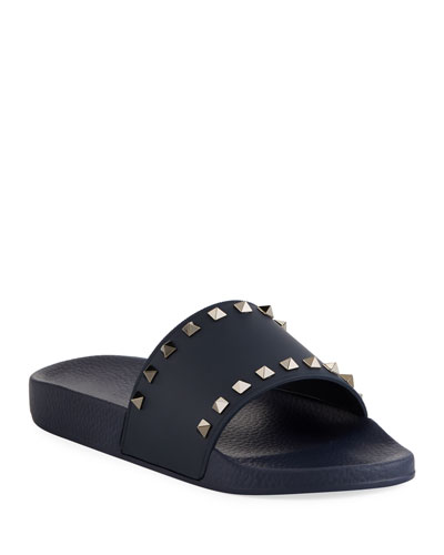 993ad27d6f6 Quick Look. Valentino Garavani · Men s Rockstud Vinyl Pool Slide Sandals
