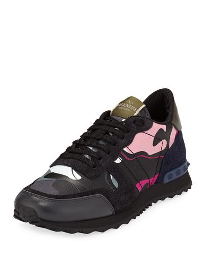Men's Rockrunner Camo-Print Trainer Sneakers