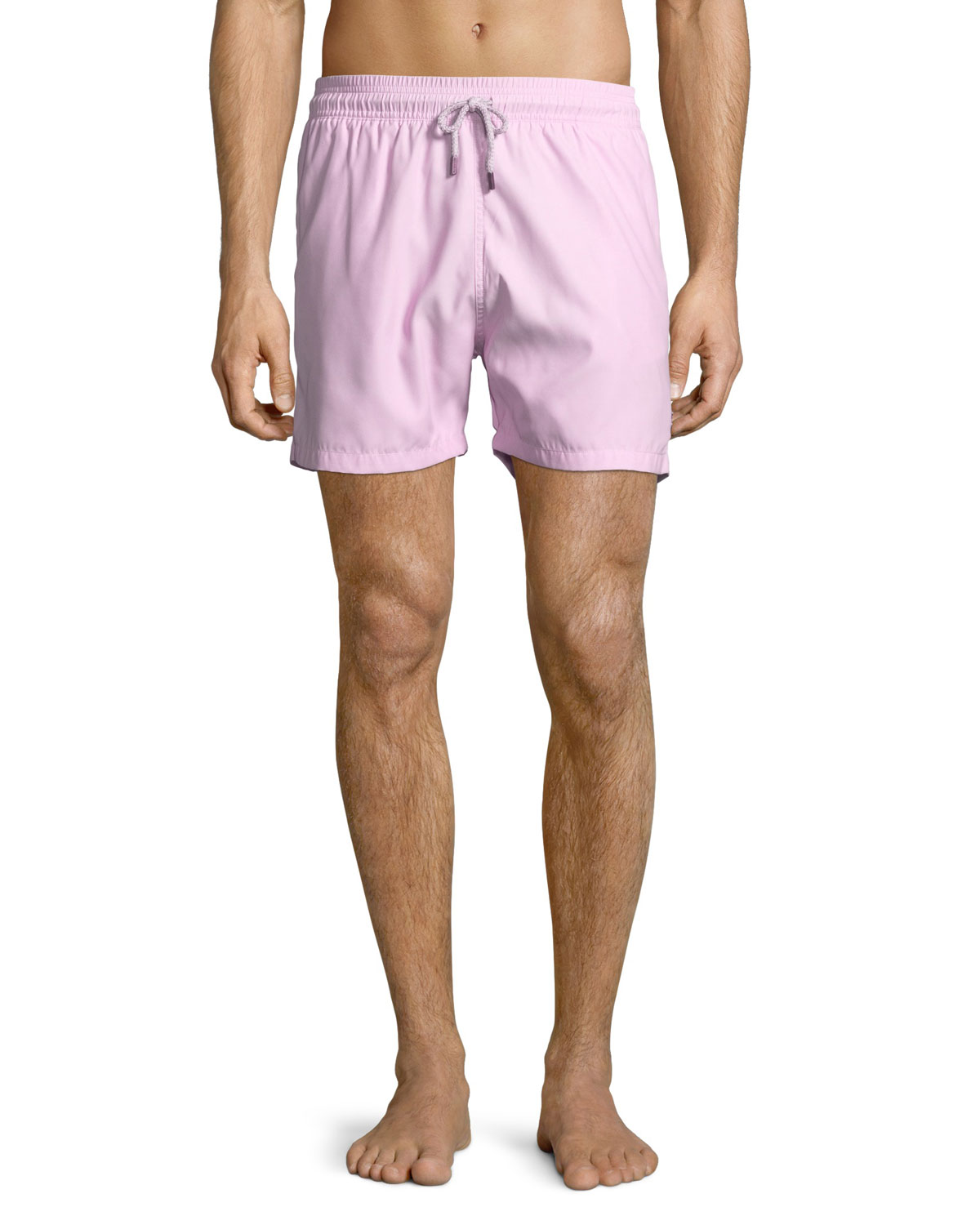 Solid Swim Trunks Pink