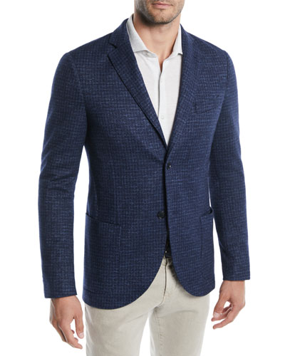 Men's Houndstooth Soft Blazer Jacket