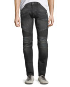Hudson Men's Blinder Distressed Biker Jeans, Hacker