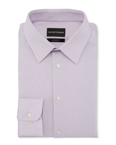 Men's Modern-Fit Solid Stretch Broadcloth Dress Shirt