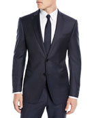 Emporio Armani Men's Box-Pattern Wool Suit