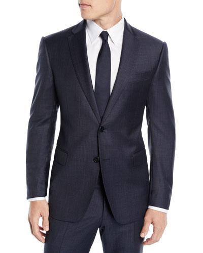 Men's Box-Pattern Wool Suit