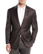 Emporio Armani Men's District Check Two-Button Wool Sport