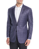 Emporio Armani Men's Small-Check Wool Jacket
