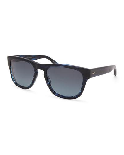 Men's Bunker Plastic Square Polarized Sunglasses