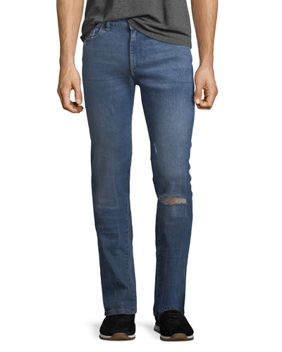 Men's Nick Slim-Leg Distressed-Knee Jeans, League