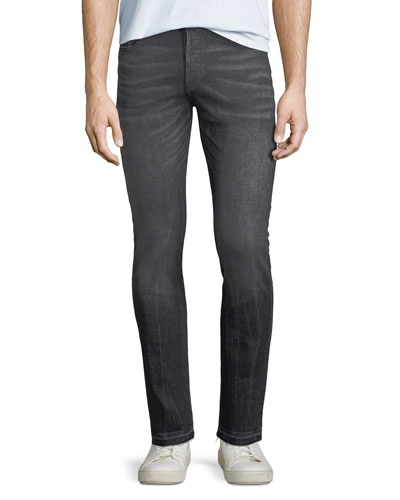 Men's Hunter Released-Hem Skinny Jeans, Medium Gray