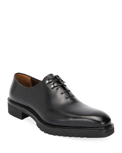 Men's Burlap Lug-Sole Lace-Up Shoes