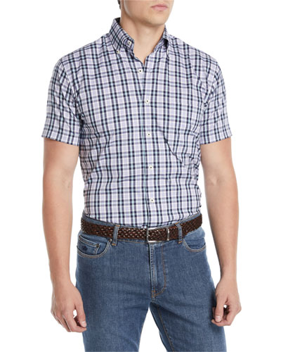 Men's Crown Comfort Moritz Check Short-Sleeve Sport Shirt