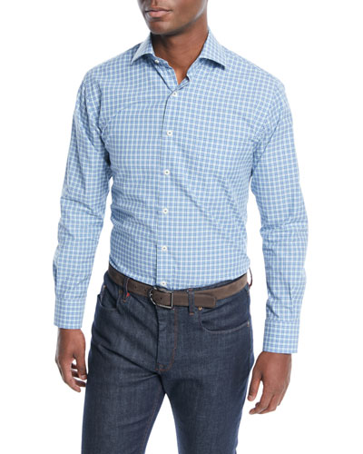 678541f9683e Quick Look. Peter Millar · Men s Grimsey Crown Finish Check Sport Shirt