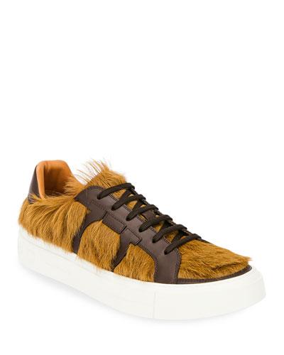Men's Bolson Fur Low-Top Sneakers