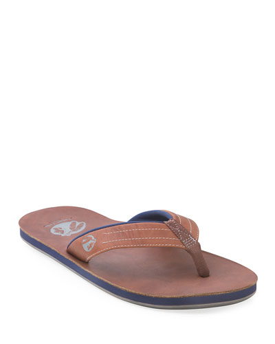 x Nokona Men's Leather Thong Sandals, Walnut