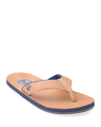 x Nokona Men's Leather Thong Sandal, Honey