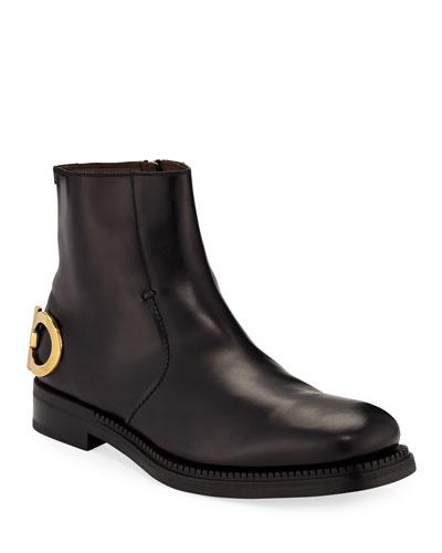 Men's Bankley Gancini-Heel Leather Boots