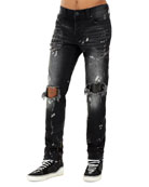 Men's Rocco Distressed Straight-Leg Jeans