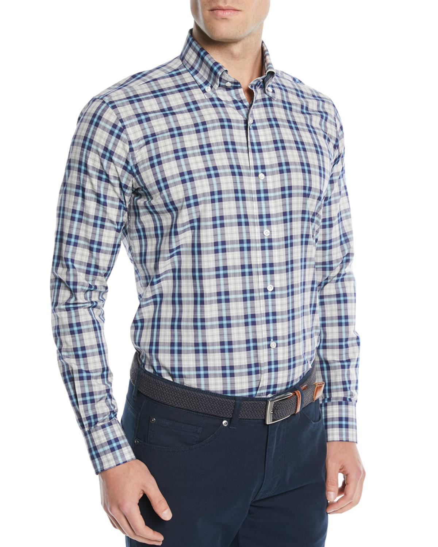 Men's Kairos Melange Check Sport Shirt