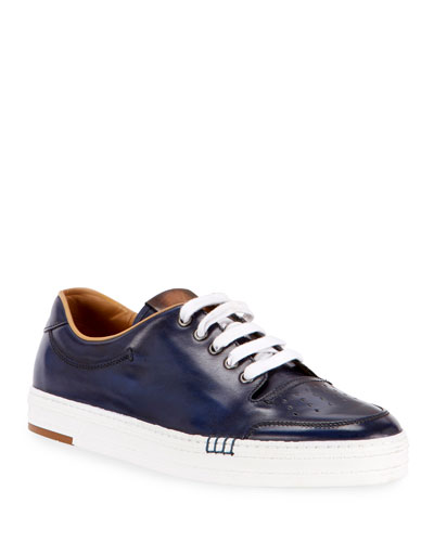 Men's Playtime Leather Low-Top Sneakers