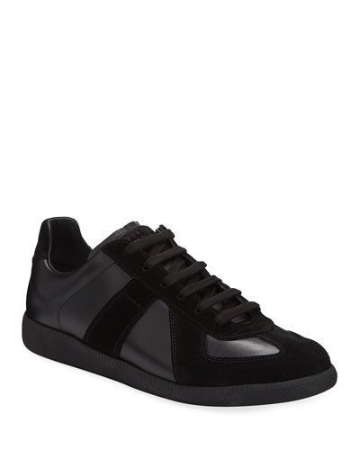 Replica Men's Leather & Suede Low-Top Sneakers