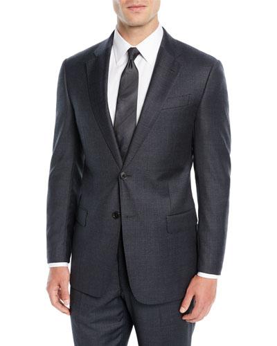 Men's Mini Houndstooth Two-Piece Suit