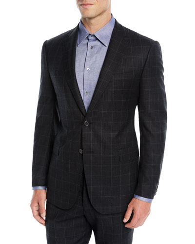 Windowpane Suit  cc98b0594